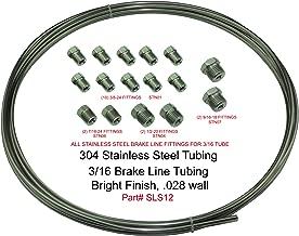 (Kit) Stainless Steel Brake Line Tubing Kit 3/16 OD Coil Roll & SAE Tube Nut Fittings
