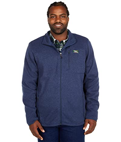 L.L.Bean Sweater Fleece Full Zip Jacket Tall (Bright Navy) Men