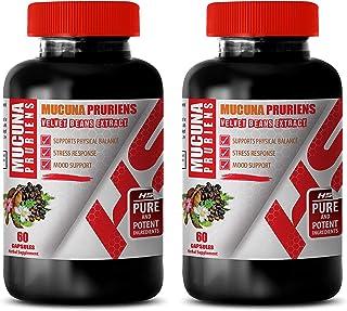 Male Enhancing Supplement - Velvet Beans Extract - MUCUNA PRURIENS - Nerve Support Formula Extra Strength - 2 Bottles 120 ...