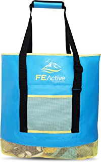 FE Active - 50 Liter Sand Free Bag Built with High-End Water Resistant Material and Designed As Oversize Sand-Free Tote Bag for The Beach and Camping | Designed in California, USA