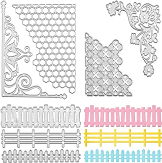 7 PCS Matrices de Découpe Cutting Dies Metal Pochoirs Gaufrage Acier au Carbone Cutting Die pour Scrapbooking DIY Album Pa...