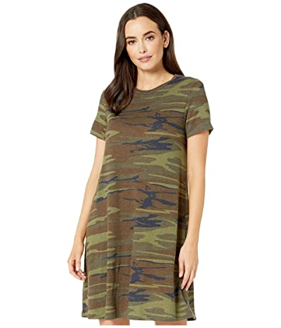Alternative Eco-Jersey Printed Flare T-Shirt Dress (Camo) Women