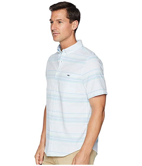manga Tucker Piper Slim corta Sand Oxford Vines piscina de de Vineyard la Lado Stripe Fit Camisa 58vfwPqx