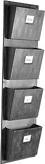 Linon 4 Slot Hanging Metal Mailbox, 14.5