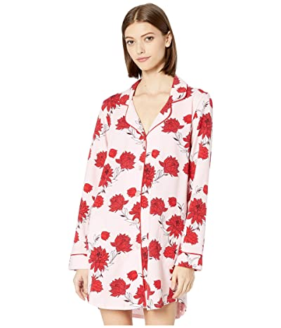BedHead Pajamas Long Sleeve Classic Sleepshirt (Budding Romance) Women