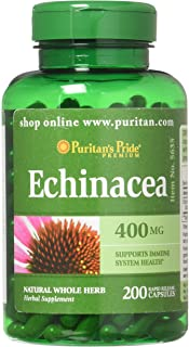 Sponsored Ad - Echinacea 400 mg for Immune Health by Puritan's Pride to Support Immune System 200 Capsules