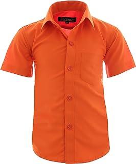 Gillsonz A70vDa Chemise de f/ête pour enfant Repassage facile Manches courtes 7 couleurs Taille 86-158