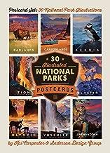National Parks: Kai Carpenter Illustrated 30-piece Postcard Set