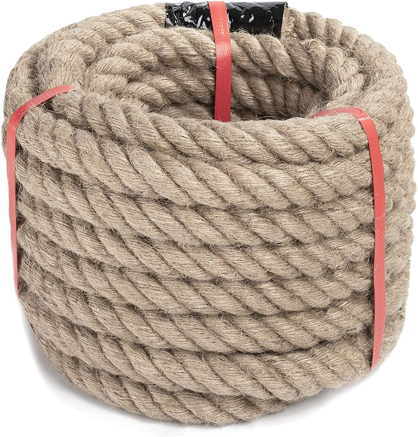 Zakous Jute Rope 1 Ranking TOP3 Inch High order 100 Hemp for Feet Twisted C Crafts