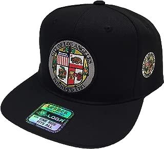 Los Angeles hat 2 logos Black SnapBack