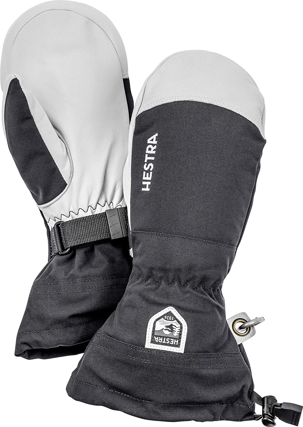 Hestra Army Leather Heli Ski Glove - Classic Snow Mitten for Skiing, Snowboarding and Mountaineering