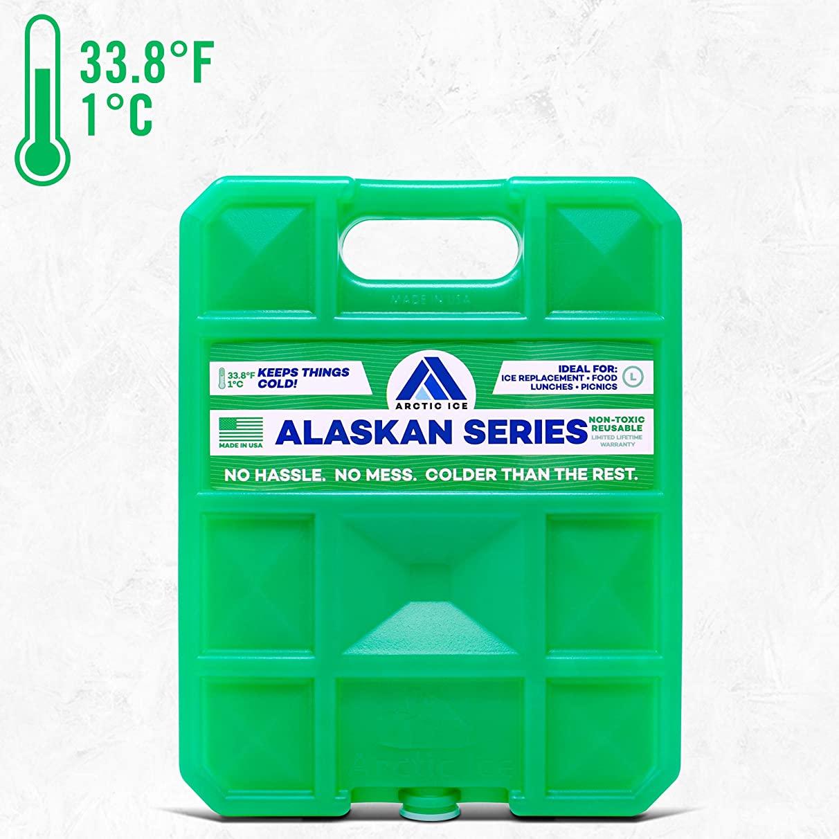 Long Lasting Ice Pack for Coolers, Camping, Fishing and More, Large Reusable Ice Pack, Alaskan Series by Arctic Ice