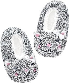جوراب دمپایی بچه گانه پاندا برادرز ، دمپایی داخلی کارتون پشمی راحت ، کفش اتاق خواب گرم و فازی