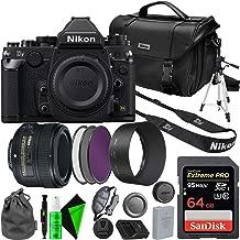 Nikon Df DSLR Camera (Black) with NIKON 50mm 1.8G AF-S Lens - Memory Card - Nikon Bag Bundle