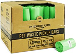 Gorilla Supply 1000 Pet Poop Bags, EPI Technology, 50 Refill Rolls