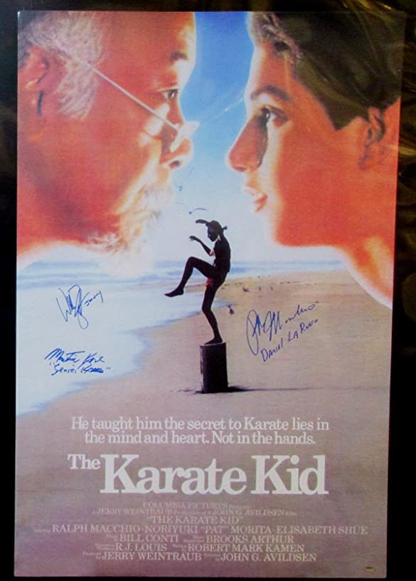 The Karate Kid Cast Signed Mini Movie Poster (autographed by 3 at private signings).
