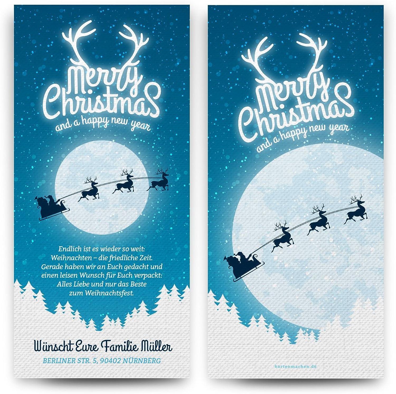 Weihnachtskarten (40 Stück) - Mondlicht Merry Christmas - Grußkarten Grußkarten Grußkarten Weihnachten B01LZ0HKPW  | Qualität Produkte  0eef22