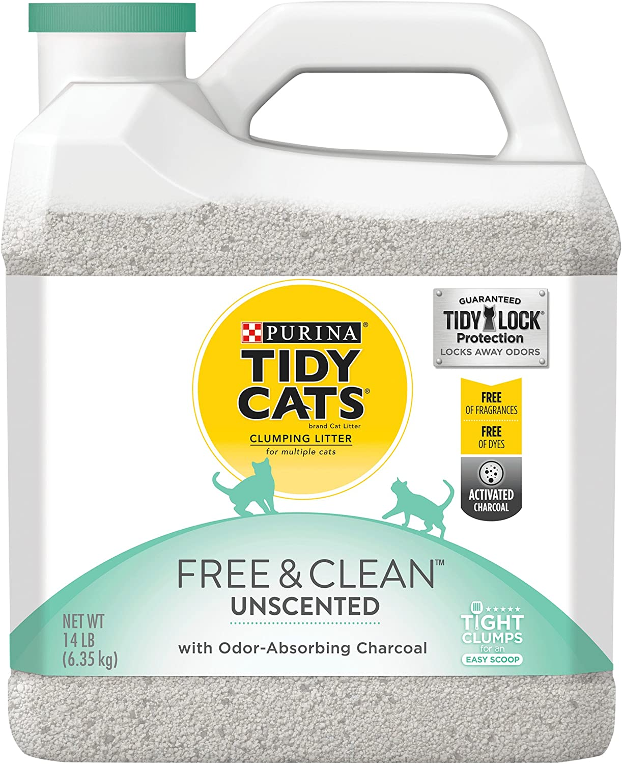 Purina Tidy Cats Free & Clean with TidyLock Predection Clumping Cat Litter  14 lb. Jug