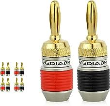 Mediabridge Banana Plugs - Corrosion-Resistant 24K Gold-Plated Connectors - 4 Pair/8 Banana Plugs (Part# SPC-BP2-4)