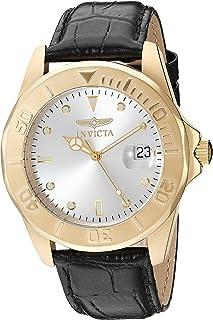 Invicta Pro Diver 10230 - Reloj de cuarzo para hombre (tono dorado y piel, estilo casual), color café