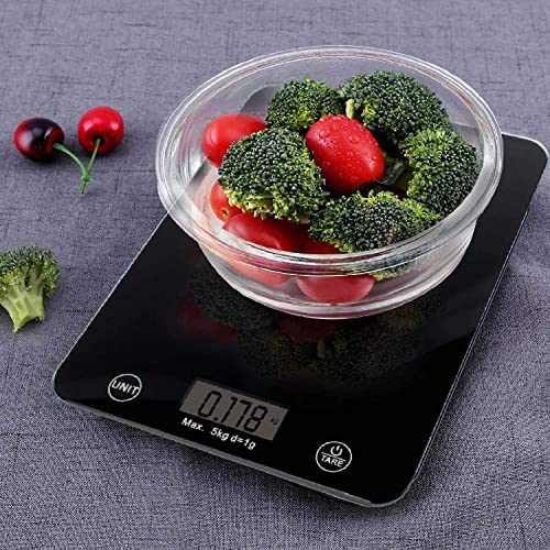 Aalok Enterprise Digital Kitchen Scale Weighing Machine for Food Baking Cooking for Home Use with Tempered Glass LCD Display Multi Colour