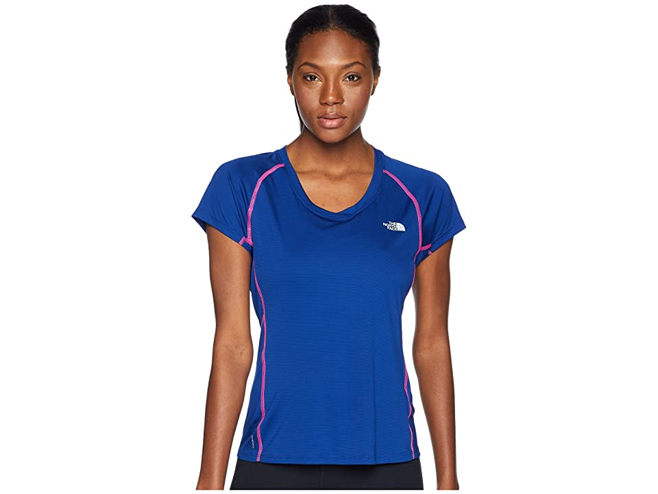 The North Face Ambition Short Sleeve Tee (Sodalite Blue) Women