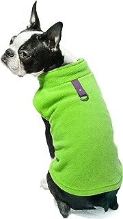 Gooby - Fleece Vest, Small Dog Pullover Fleece Jacket with Leash Ring