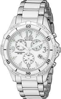 Women's Eco-Drive Chronograph Watch with Diamond Accents, FB1230-50A