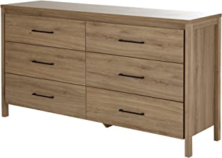 South Shore Gravity 6-Drawer Double Dresser, Rustic Oak