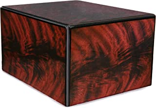 Chateau Urns- Adult Cremation Urn (Bordeaux, Large)- Wooden Memorial Box for Ashes, Funeral