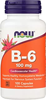 Now Foods La vitamina B-6. 100 mg - 100 caps 100 Unidades 80 g
