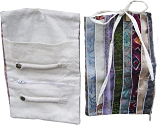 Recycled Silk Sari Travel Jewelry Case Roll Bag