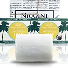 Niugini Organics Certified Organic Coconut Oil Lemongrass Soap 100 g, 100 g