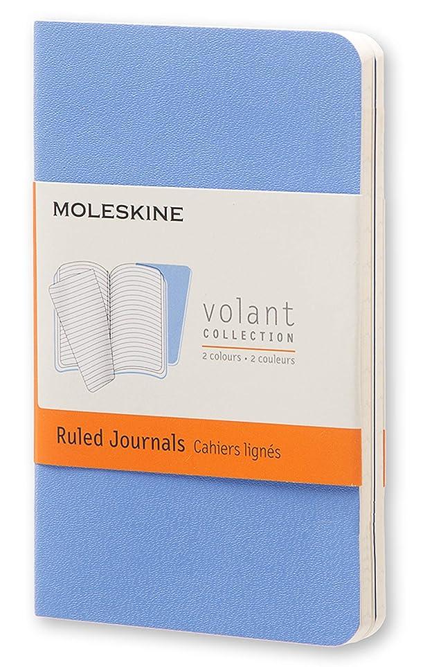 絶壁最愛の不正確Moleskine Volant Journal (Set of 2), Extra Small, Ruled, Powder Blue, Royal Blue, Soft Cover (2.5 x 4)