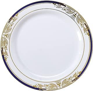 Signature Blu 120 Piece Salad Plate with Cobalt Trim & Gold Stamping, 7.5