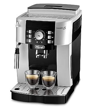 De'Longhi Magnifica S ECAM 21.116.SB Kaffeevollautomat (Direktwahltasten und Drehregler, Milchaufschäumdüse, Kegelmahlwerk 13 Stufen, Herausnehmbare Brühgruppe, 2-Tassen-Funktion) silber/schwarz