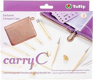 Tulip CarryC Lot d'aiguilles à Tricoter circulaires interchangeables en Bambou 3,5-9 mm