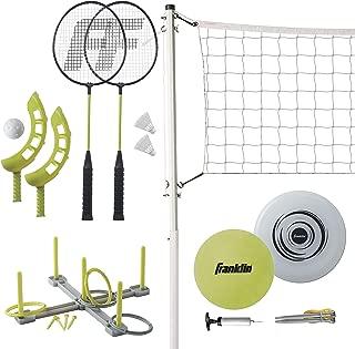 Franklin Sports Fun 5 Combo Set - Badminton - Volleyball - Ring Toss - Flip Toss - Flying Disc (Renewed)