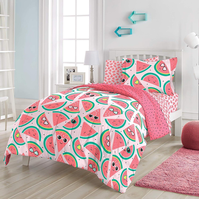 Navy Blue Under Construction Twin dream FACTORY Kids 5-Piece Complete Set Easy-Wash Super Soft Microfiber Comforter Bedding