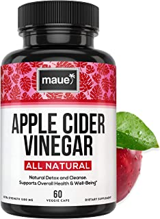 Apple Cider Vinegar Capsules for Detox & Cleanse - 100% Pure Extra Strength ACV Pills - Natural Diet Pills for Women & Men for Bloating, Constipation Relief, Digestion & Energy Boost - Vegan Capsules