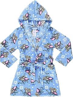 Kids Boys Girls Fleece Hooded Bathrobe Sleepwear,Childrens Soft Plush Bath Robe with Hoodie for 2-12Years
