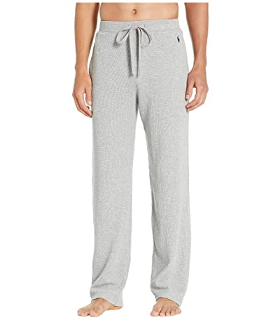 Polo Ralph Lauren Midweight Waffle Solid Pajama Pants (Andover Heather/Cruise Navy Pony Print) Men
