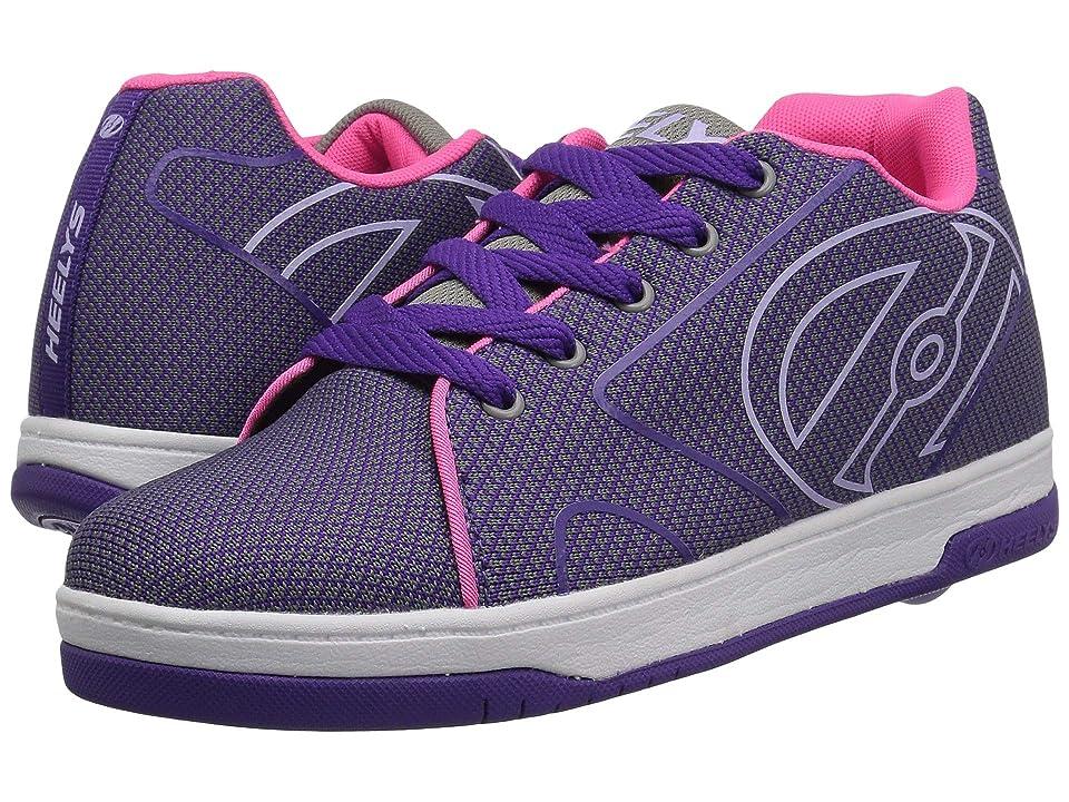 Heelys Propel Knit (Little Kid/Big Kid/Adult) (Grey/Purple/Neon Pink Knit) Girls Shoes