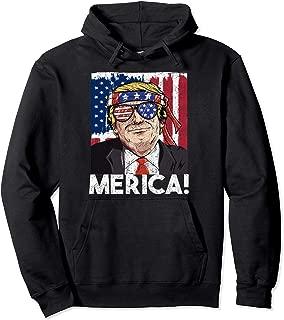 President Donald Trump Merica American Flag Hoodie