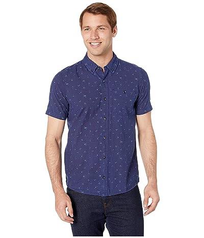 Toad&Co Mattock II Short Sleeve Shirt Slim (Dark Indigo Hook Print) Men