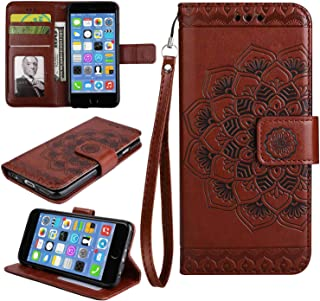 Huawei Honor 6C Case, Bear Village® Leather Wallet Cover, Anti-Scratch Embossing PU Case with Magnetic Closure and Card Slots for Huawei Honor 6C (#8 Brown)