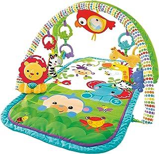Fisher-Price Amis de la Jungle 3-en-1 tapis d'éveil musical pour bébé, transportable, arches de jeu et jouets, emballage f...