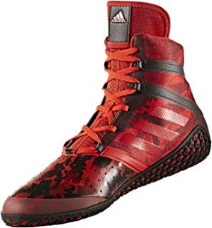 adidas Impact Men's Wrestling Shoes, Red Camo Print, Size 9.5