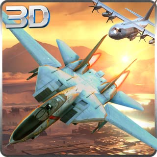 F16 & F18 Jet Fighter Adventure Simulator 3D: Dogfight Air Attack Combat Flight Survival Hero Avion Force Game 2018