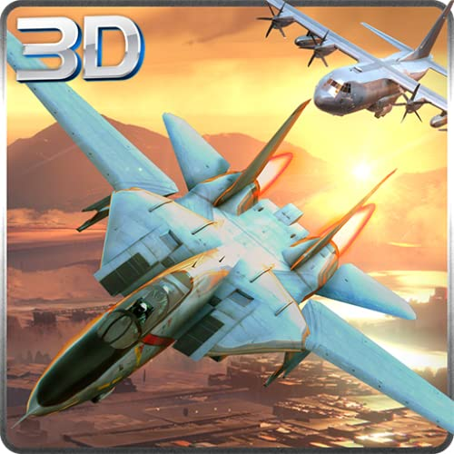 F16 y F18 Jet Fighter Adventure Simulator 3D: Dogfight Air Attack Combat Flight Survival Hero Avion Force Game 2018
